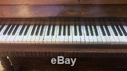 1 Large Antique French Carved Victorian Metzler Rosewood Upright Piano