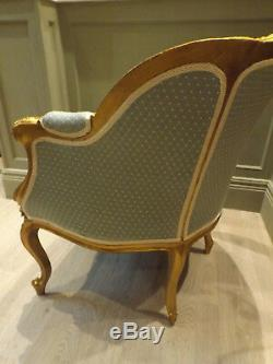 19th C. French Gilt Arm Chair Restored & Upholstered