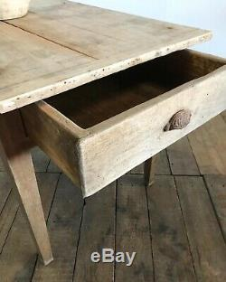 19th Century Antique French Country Farmhouse Rustic Kitchen Dining Table
