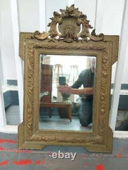 19th Century Antique French Gilt Framed Wall Mirror. Vintage/Decorative