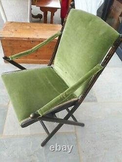 19th Century French Campaign Chair
