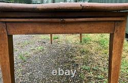 19th Century French Fruitwood Farmhouse Dining Kitchen Table
