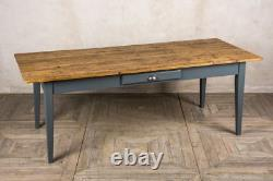 5ft(152.5cm) Rustic Pine French Farmhouse Table With A Painted Base The Provence
