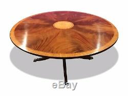 5ft Amazing Sunburst Flame mahogany circular Grand dining table, French polished