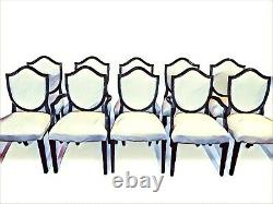 6,8,10,12,14,16,18beautiful Victorian style Balloon back chairs French polished