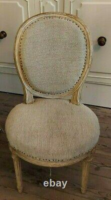 6 French, Antique Dining chairs, late 19th century, bought from Puces de St Ouen
