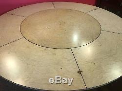 7.5ft amazing Grand Mahogany Jupe circular dining table, pro French Polished
