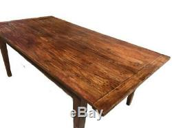 A Lovely Rustic Mid Century French Pine Farmhouse Refectory Table