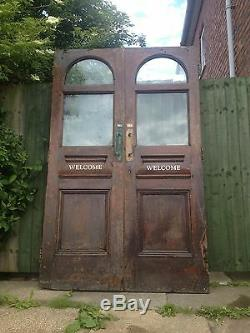 A Pair of Huge Victorian Glazed Mahogany Double / French Doors D7