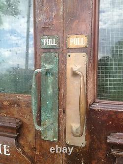 A Pair of Huge Victorian Glazed Mahogany Double /French Doors D7