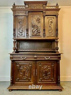 A Rare & Beautiful 110 Year Old Huge French Edwardian Antique Dresser. C 1910