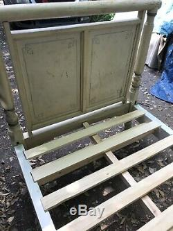 A Stunning French antique Single Solid Wood Bedstead