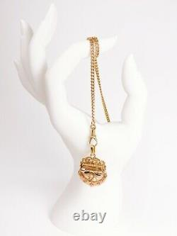 ANTIQUE Victorian French 18k Yellow Gold & Seed Pearl Locket Pendant