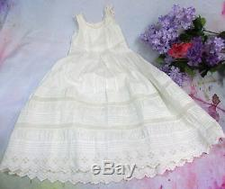 ANTIQUE Victorian era CHRISTENING GOWN & DRESS set 19thC French FIne EMBROIDERY