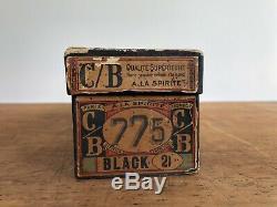 Amazing Antique Victorian 1889 French Black Corset In Orig Box A La Sprite S XS