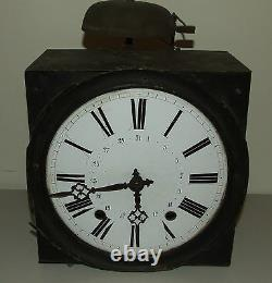 Antique 19th C. French Morbier Comtoise Porcelain Dial Wag On Wall Clock c. 1840