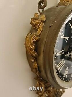 Antique 19th C. Systeme Brevete' Paris France Ornate French Victorian Wall Clock