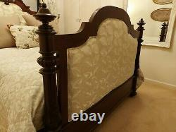 Antique Bed French Mahogany Upholstered Double