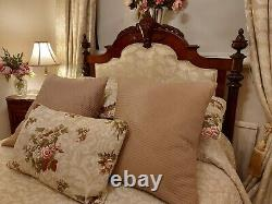 Antique Bed French Mahogany Upholstered Double Bed