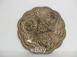 Antique Brass Ceiling Rose French Empire Lighting Plate Face Knight Victorian