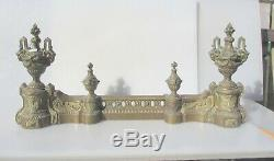 Antique Brass Fire Front Fender Kerb Urn French Rococo Victorian Baroque