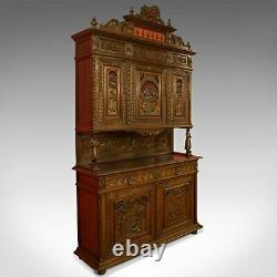 Antique Carved Breton Buffet Cabinet, French, Sideboard, Oak, Circa 1880