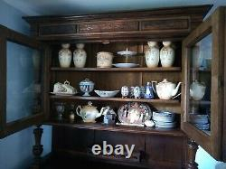 Antique Carved French Hutch Dresser Cabinet Sideboard Buffet C 1800-1890