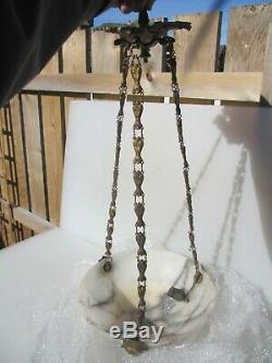 Antique Ceiling Light Hook Chandelier Rose Bracket Rococo Victorian Ormolu Chain