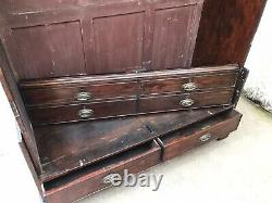 Antique French Armoire Wardrobe 19th Century Tall Victorian