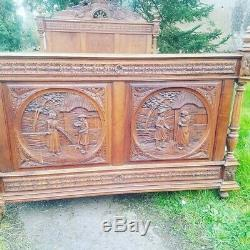 Antique French Bed, Chateau Breton Marriage Bed
