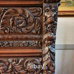 Antique French Cabinet, Neo Renaissance Credence 19th Century