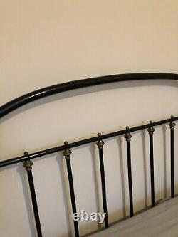 Antique French Cast Iron Bed Small Double