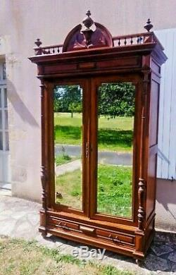 -Antique French Chateau Armoire, Renaissance Revival, Henri II