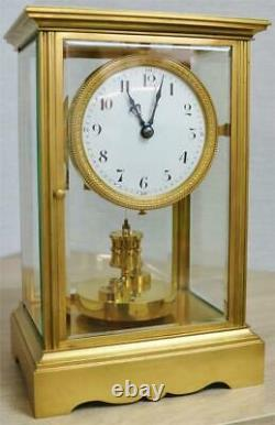 Antique French Claude Grivolas 400 Day Duration 4 Glass Torsion Mantle Clock