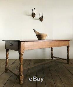 Antique French Country Farmhouse Refectory Kitchen Dining Table