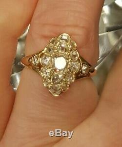 Antique French Diamond Ring 0.95ct Victorian 18ct gold