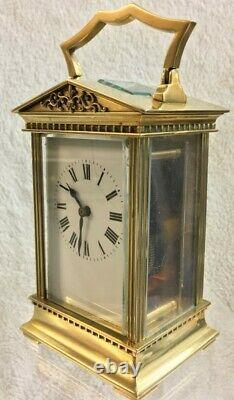 Antique French Eight Day Carriage Clock, Fully Restored, Two Year Guarantee