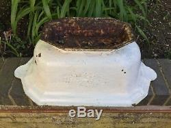 Antique French Garden Jardiniere Planter Old Cast Iron Pot Vase Architectural