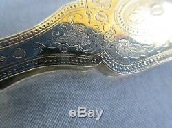 Antique French Gilt Silver Lorgnette Opera Glasses Folding 19c. France c. 1840