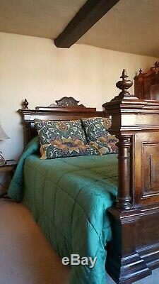 Antique French Henri Small Double Bed