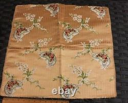 Antique French Le Chapeau 19thC Lyon Silk Brocade FabricVictorian