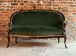Antique French Mahogany Two Seater Sofa 19th Century Circa 1890