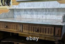 Antique French Marble Top Washstand table