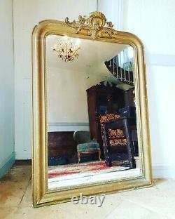 Antique French Napoleon III Rococo Revival Mirror