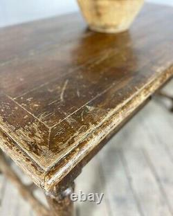 Antique French Oak Refectory Kitchen Dining Table Desk