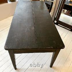 Antique French Stained Kitchen/dining Table