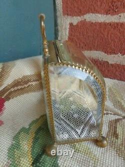 Antique French Victorian Beveld Glass Jewelry Watch Trinket Perfume Casket Case