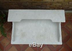 Antique French White Marble Top Wash Stand
