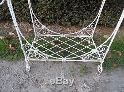 Antique French Wire Wrought Iron Plant Stand Flower Pot In And Outdoor Victorian