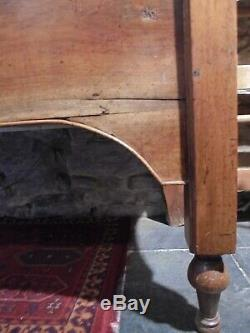 Antique French cherry / fruit wood COFFER / DOUGH BIN blanket box restoration